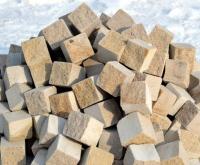 Pískovcové dlažební kostky řezané